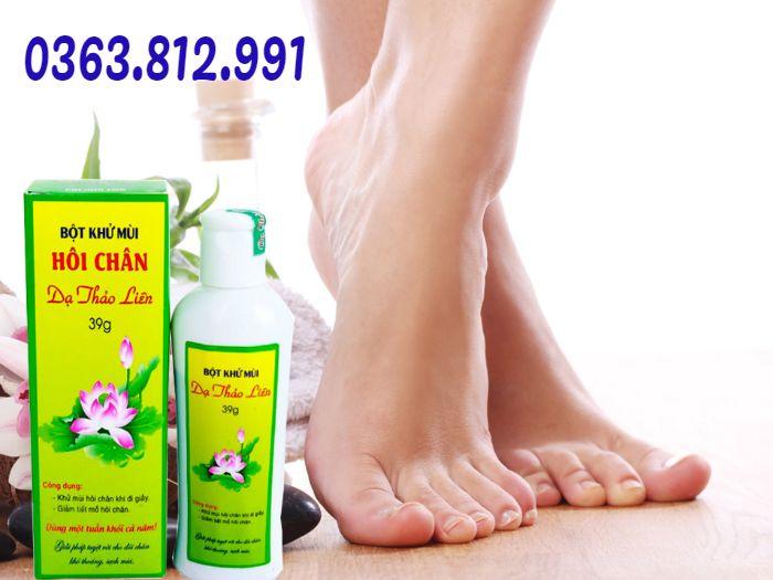 bột trị hôi chân dạ thảo liên