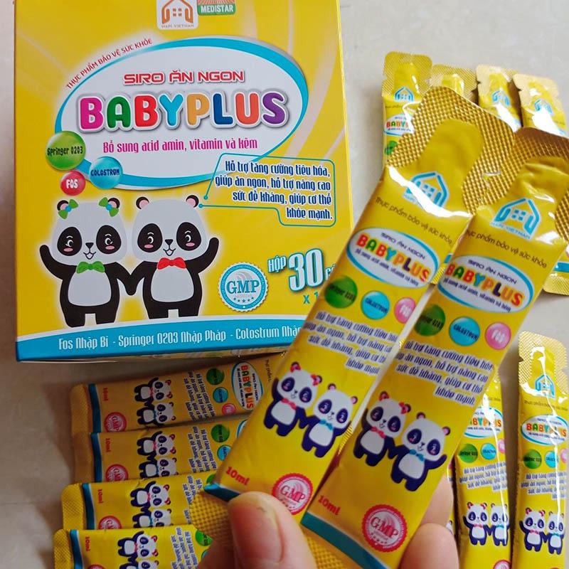 Cách dùng Siro ăn ngon Baby Plus hiệu quả